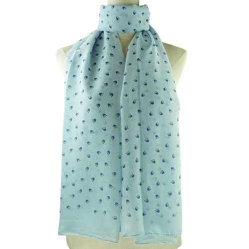 Blue Footprint Pattern All Season Scarf