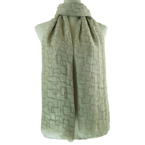 Beige Simple Pattern All Season Scarf