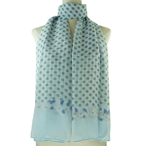 Blue Dots Print All Seasons Scarf