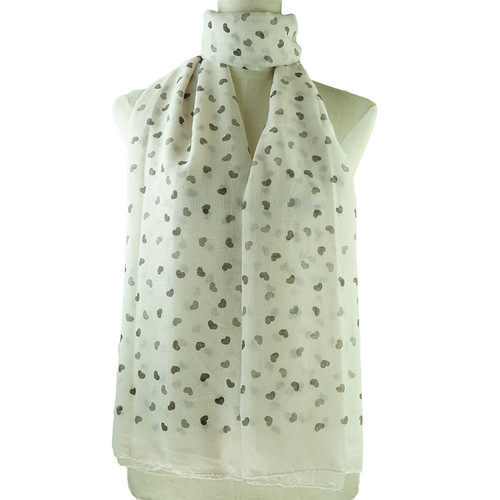 Beige Love Print All Seasons Scarf
