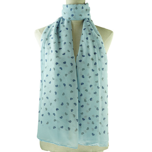 Blue Love Print All Seasons Scarf