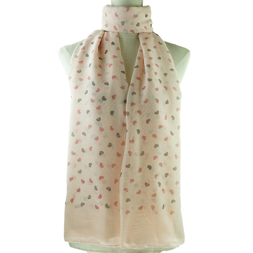 Pink Love Print All Seasons Scarf