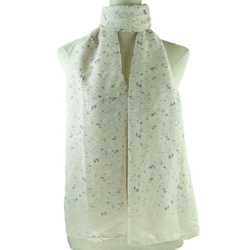 Beige Small Floral Print All Seasons Scarf