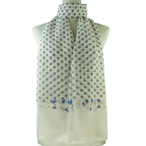 Beige Dots Print All Seasons Scarf