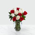 Candy Cane Rose Arrangement