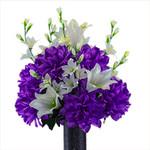 Lily with Purple Dahlia