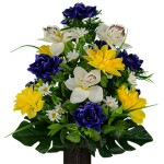 Purple Yellow with White Orchid Mix 2