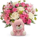 Precious Pink Bear Bouquet