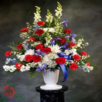 Red White and Serenity Arrangement