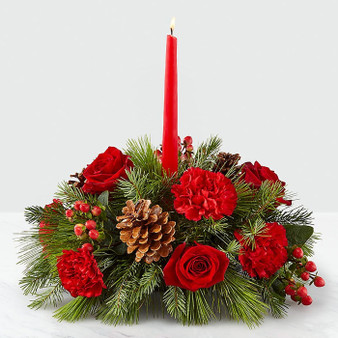 I'll Be Home for Christmas Candle Centerpiece