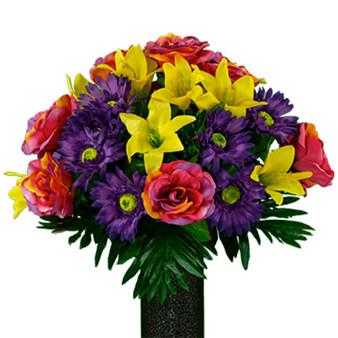 Rainbow Sherbert Rose Lily and Daisy Mix