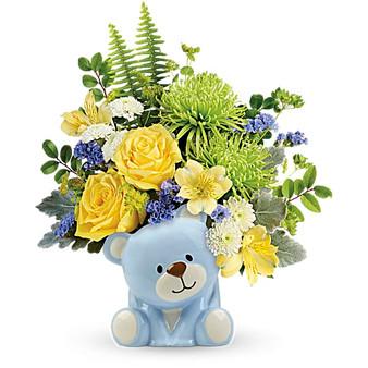 Joyful Blue Bear Bouquet