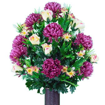 Plum Mum and Cream Pink Rose (LG)