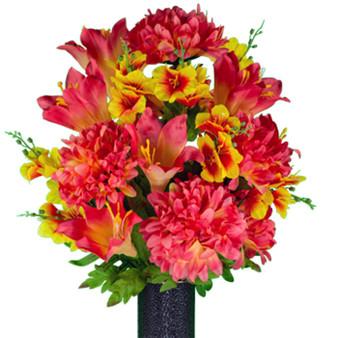 Starburst Orange Lilies and Dahlias (MD)