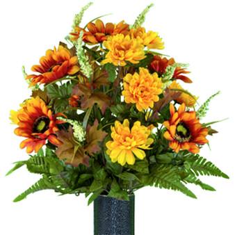 Orange Sunflower and Yellow Mum (MD)