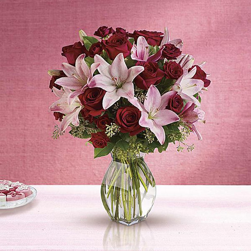 Lavish Love Bouquet with Red Roses