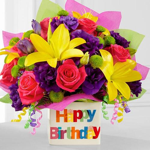 The Happy Birthday Bouquet Flower Den Florist Same Day Flower Delivery In Northern Virginia,Kitchen Helper Stool Ikea Hack
