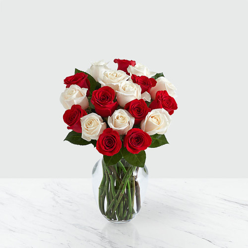 Candy Cane Rose Arrangement