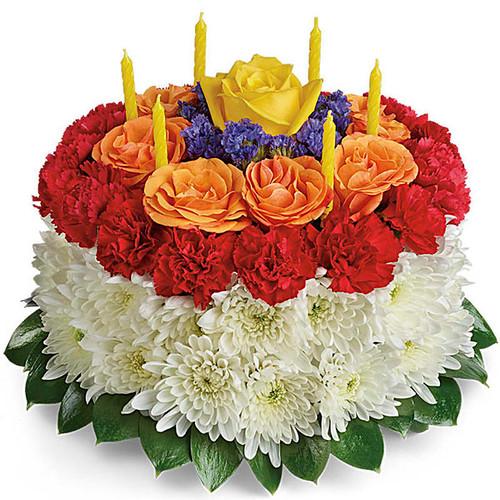 Granted Birthday Cake Bouquet
