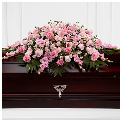The Sweetly Rest Casket Spray
