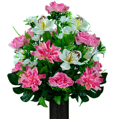 Medium Pink with White Orchid Mix