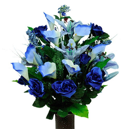 Blue Rose and Lily