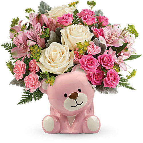 Precious Pink Bear Bouquet