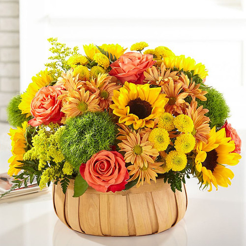 Harvest Sunflower Basket
