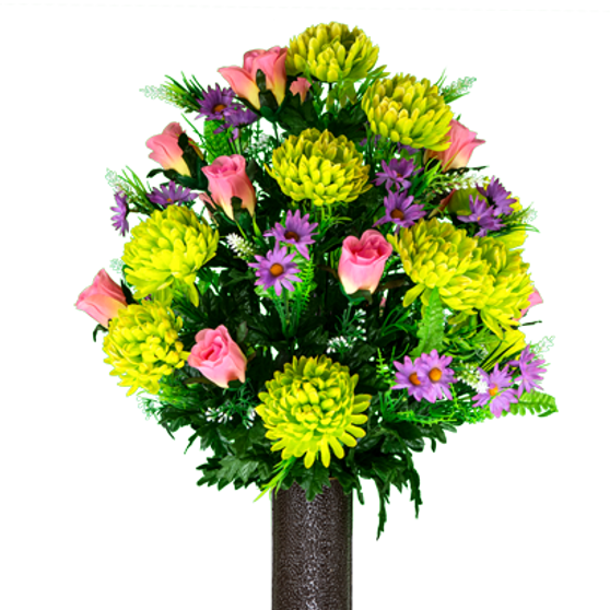 Lime Mum and Pink Rose