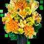 Honey Burst Lily and Dahlia Mix