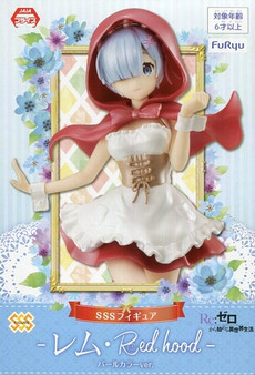 Re ZERO Starting Life In Another World SSS 21cm Premium Figure REM in Red hood-pearl color ver.