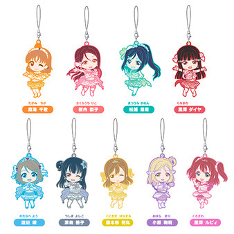 (Single)(Random)Nendoroid Plus Trading Rubber Straps: Love Live! Sunshine!! Koi ni Naritai AQUARIUM Ver.