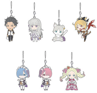 """(Single)(Random)Nendoroid Plus - """"Re:ZERO -Starting Life in Another World-"""" Trading Rubber Strap 7Pack BOX(Released)"""