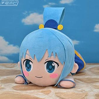 KonoSuba Wonderful World Blessing The Movie Crimson Legend MEJ Aqua Nesoberi Lying Down Plush - Sega