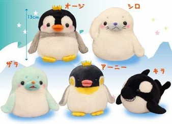 (Single) Adventure of Shiro the Seal and the Prince Penguin Standard Plush - Amuse