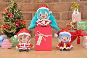 (Single) Hatsune Miku - Project DIVA - F 2nd KCM Plush Miku & Kaito & MEIKO Christmas ver. - Sega