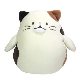 Haguhagu Motchiri - Hughug Cushion Calico Cat Medium Size Plush - Sunlemon