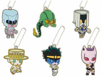(Single)(Random) JoJo's Pitter-Patter Pop Diamond Is Unbreakable Rubber Mascot Stand ver. Trading Toy - Bandai