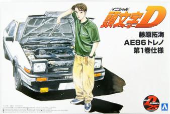 INITIAL-D #05 - 1/24 TAKUMI FUJIWARA 86 TRUENO COMICS VOL.1 VER.(TOYOTA) Plastic Model Kit