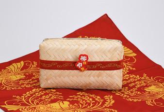 Sakuna  Of Rice and Ruin - Bamboo Wicker Lunch Box + Cloth Wrap Set
