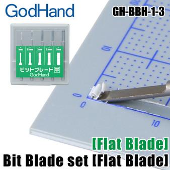GodHand  Bit Blade set [Flat Blade GH-BBH-1-3] (Set of 5)