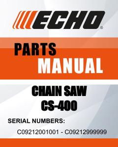 Echo CHAIN SAW SN C09212001001 - C09212999999
