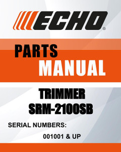 Echo TRIMMER SN 001001 & UP MODEL'S SRM-2100SB TYPE 1/1E parts manual - Lawn Mowers Parts