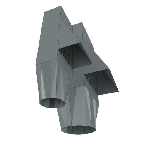Downspout Adapter Transition with Overflow