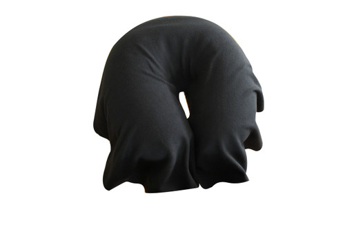 Basics face drape large black micro fibre  Product & Description:  Basics face drape small, medium, large. For use over the face cushion & cover on the cradle attachment at the end of the treatment table. The face cushion cover serves as a base for the face drape to lay on & stops the drape from sliding. Using face drapes saves time & money,. Instead of changing the face cushion cover for each client only the face drape needs to be changed.  Fabric:   Micro Fibre, 100% Polyester Size:   Small : width 50 cm x length 44 cm - most popular when you use the face hole in the treatment table Medium : width 55 cm x length 48 cm - most popular when you use the cradle attachment at the end of the treatment table, specifically a Metron S series or similar Large : 5width 60 cm x length 54 cm - most popular when you use the cradle attachment at the end of the treatment table specifically a Firm n Fold, Athlegen or similar   Colour: Teal Black  Coffee Rabbit Dark Navy Slate Fawn