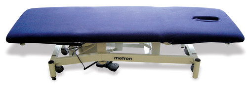 """Fitted sheet with face hole for massage, physiotherapy osteopathy table. Navy microfibre  Product & Description  Table covers, fitted sheets, plinth covers or whatever you prefer to call them are an essential part of clinical practice.  They protect your valuable & expensive equipment & for a non slip base for the items (drapes, sheets or towels) that come in contact with your client.  Our covers are all elasticated with a minimum of 2 pairs of ties for a secure fit.  Please note the dimensions """"fit up to"""" the dimensions noted & face holes have ample room for clients to breathe.     Fabirc:   Fabric 100% polyester microfibre  Microfibre/fleece is a soft luxurious fabric that stays looking good when laundered correctly, making is long lasting"""