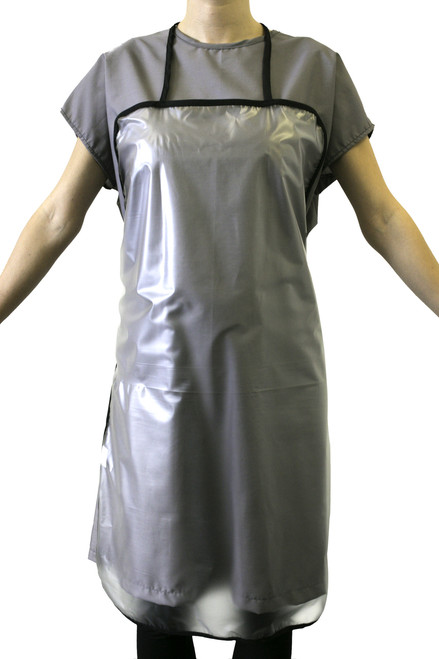Product & Description  Waterproof Aprons are an essential part of clinical practice. Made to cover & protect the clinician from mediums used during treatments. Made from waterproof, wipeable, machine washable PVC  Fabric:  100% PVC