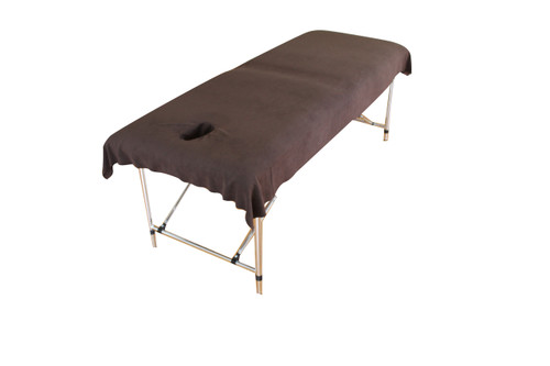 Product & Description  Table drapes are sheets with face holes they lay over your table cover, fitted sheets or plinth/couch covers & are the items that comes in contact with your client & are changed for each client. They are an essential part of clinical practice.  Dimensions:    100cm width 210cm length. Face hole inserted 20cm from the top of the table. Face hole 8 cm width 15cm length    Fabric:   Fabric 100% polyester microfibre/fleece  Microfibre/fleece is a soft luxurious fabric that stays looking good when laundered correctly, making is long lasting.  This fabric doesn't stain as readily as traditional cotton options & is much quicker to dry.