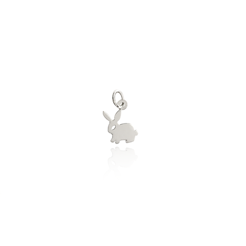 little bunny charm sterling silver