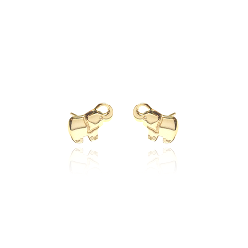 14k Elephant Earrings